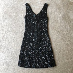 Dresses & Skirts - Black sequin mini dress